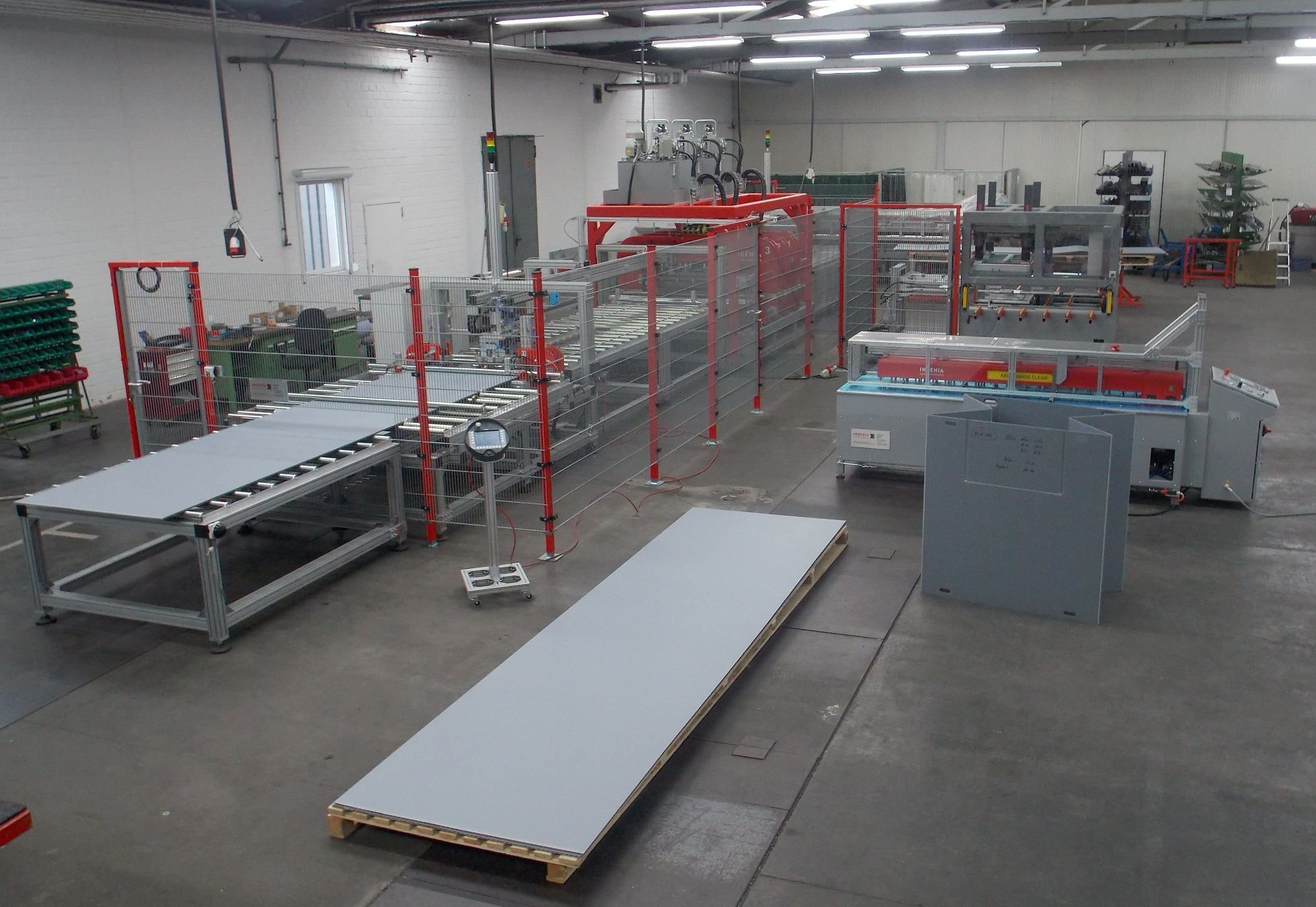 Production line for making foldable boxes